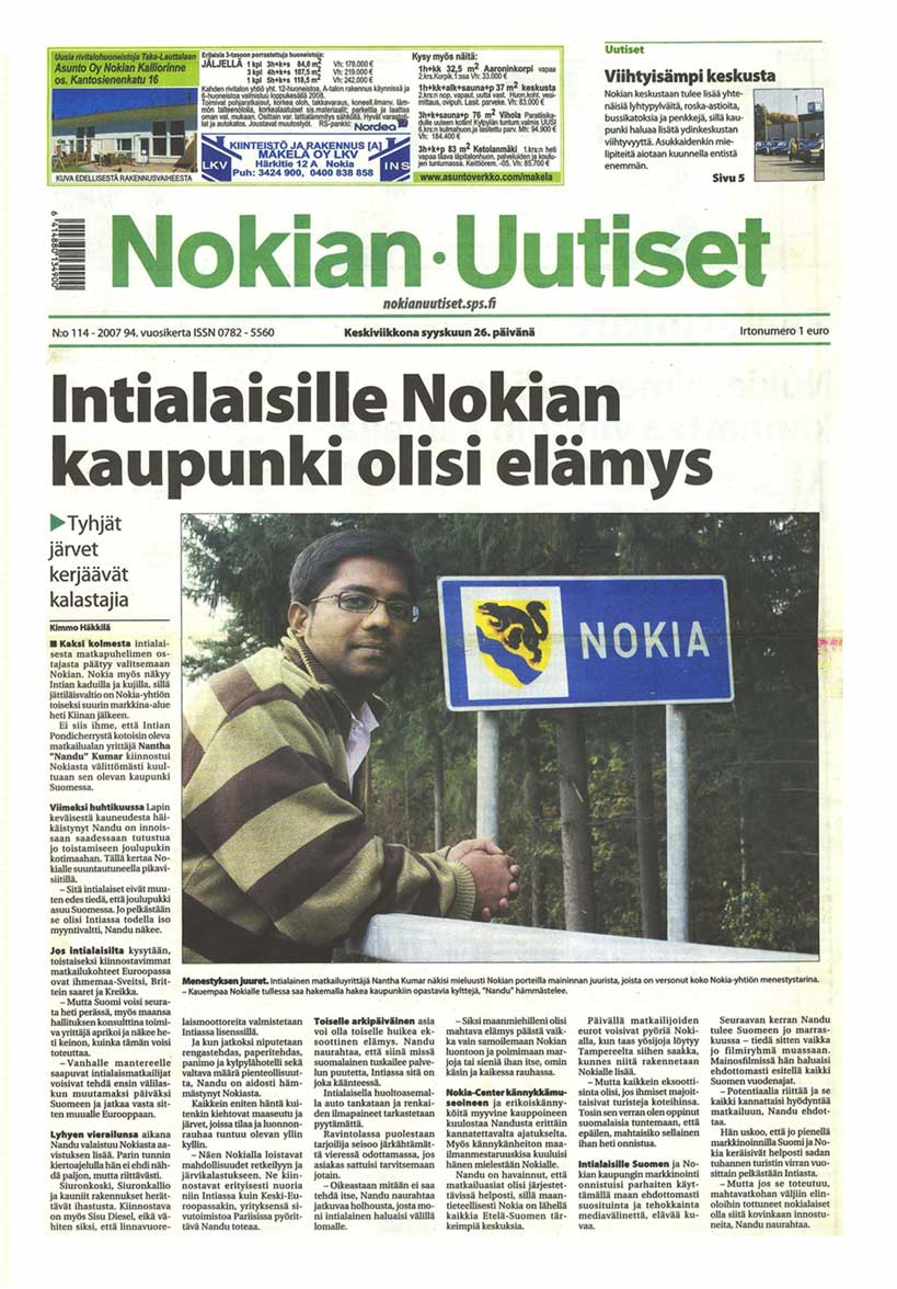 Cover story on Nokia, Finland