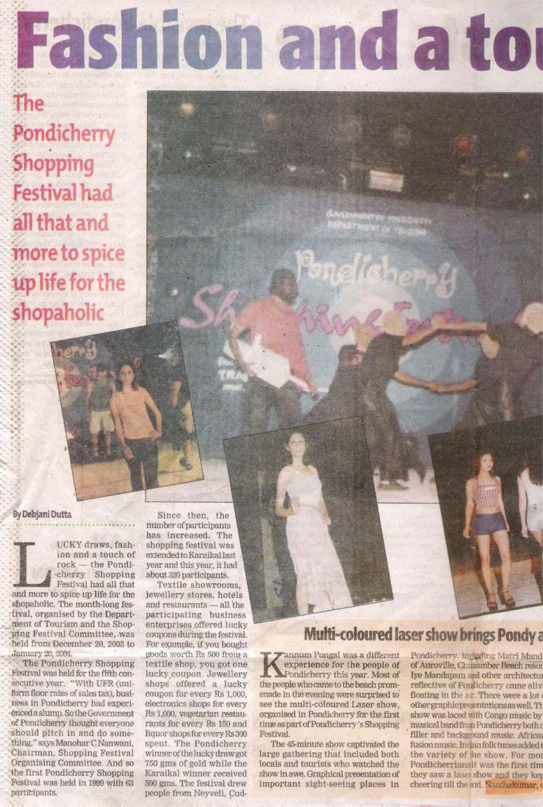Indian Express on Shopping festival